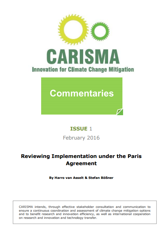 CARISMA Commentary 1 front page